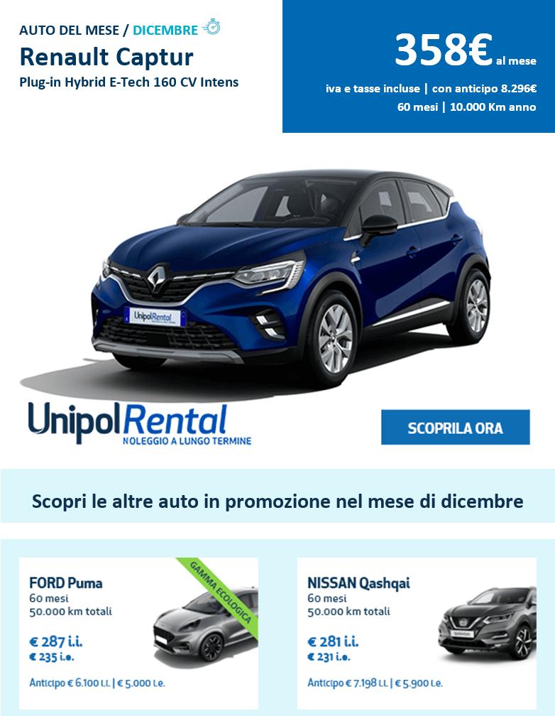 Noleggio A Lungo Termine Auto Unipol Borghese Pinerolo dicembre 2020